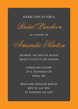 Sassy Orange Border Modern Charcoal Invitations