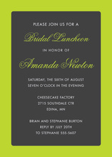Lime Border Charcoal Invitations