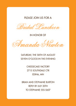 Orange Border White Invitation