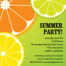 Kiwi Orange Lime Summer Invitation