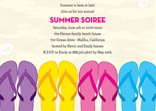 Colorful Sandals Beach Party Invitation