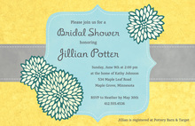 Elegant Frame Yellow Stunning Party Invitations