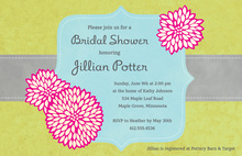 Elegant Frame Green Popular Wedding Shower Invites