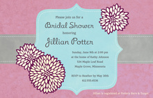 Elegant Frame Lavender Modern Wedding Shower Invites