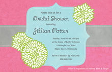 Elegant Frame Stylish Pink Wedding Invitations