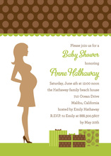 Brown Polka Dots Invitation