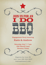Old-Fashioned Western BBQ Invitations