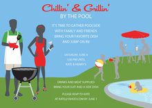 Silhouettes Summer Outdoor Grilling Party Invitations