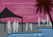 Sunset BBQ Pool Invitations
