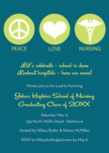 Iconic Peace Love Dentistry Lime Invitations