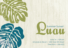 Modern Luau Palms Crete Invitations