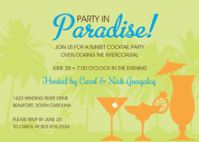 Silhouette Tropical Cocktail Invitations