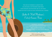 Sexy Beautiful Summer Paradise Invitations