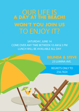 Beach Day In Paradise Invitations
