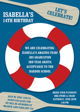 Nautical Paddles Blue Invitations