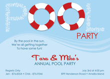 Tiny Bubbles Pool Lifesaver Invitations
