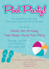 Flips At Pool Party Invitations