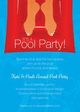 Relaxed In Floating Cozy Pool Invitations