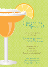 Fancy Fresh Margarita Invitations
