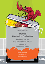 Fun Boiled Crawfish Party Invitations
