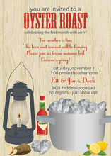Lantern Oyster Roast Party Invitations