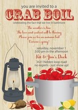 Delicious Crab Boil Party Invitations
