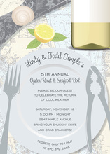 Seafood Cracker Place Setting Party Invitations