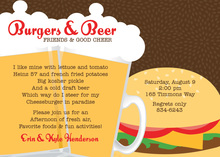 Delicious Burgers Beers Chocolate Invitations