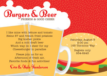 Burgers Beers Special Red Hot Invitations
