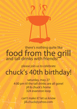 Grill Sunburst Summer Party Invitation