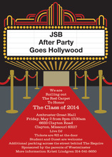 Classic Red Carpet Party Invitations