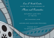 Film Reel Teal Invitation