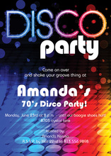 Colorful Rainbow Disco Invitation