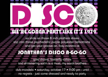 Classic Silver Disco Ball Invitations