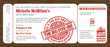 Big Five Boarding Pass Slim Invitations