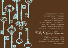 Success Key Pattern Chocolate Invitations