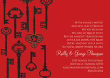 Success Key Pattern Red Invitations