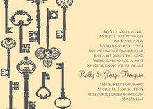Success Key Pattern Cream Invitations