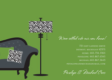 New Home Zebra Announcement Invitations