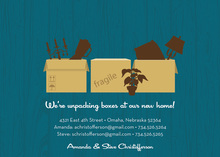 Many Boxes Teal Announcement Invitations