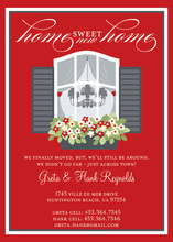 Home Sweet Home Red Invitations