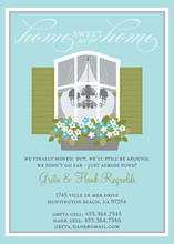 Home Sweet Home Blue Invitations