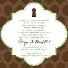 Bookplate Chocolate Keyhole Invitation