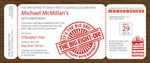 Big Eight Boarding Pass Slim Invitations