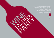 Maroon Wine Tasting Invitations