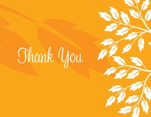 Breeze Leaves Orange Thank You Cards