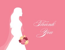 Walking Bride Pink Thank You Cards