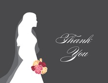 Walking Bride Charcoal Thank You Cards