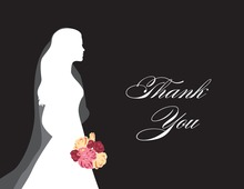 Walking Bride Black Thank You Cards