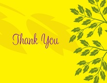 Breeze Leaves Yellow Thank You Cards